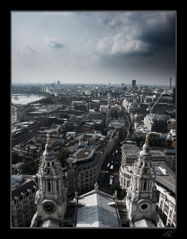 Cloudy London view